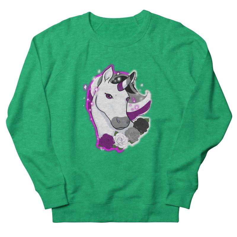 Asexual pride unicorn Women's Sweatshirt by AnimeGravy