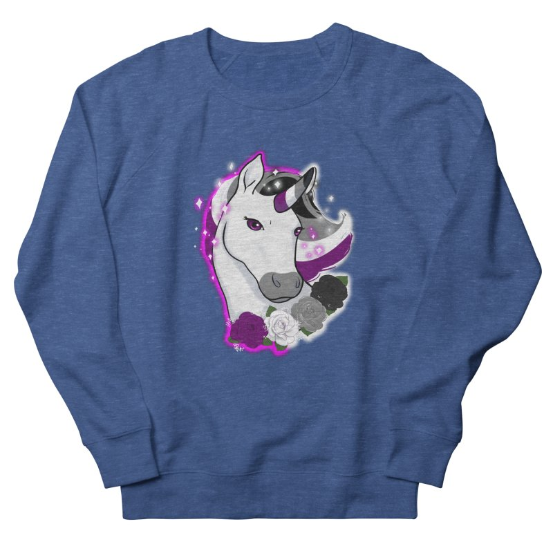 Asexual pride unicorn Women's French Terry Sweatshirt by Animegravy's Artist Shop