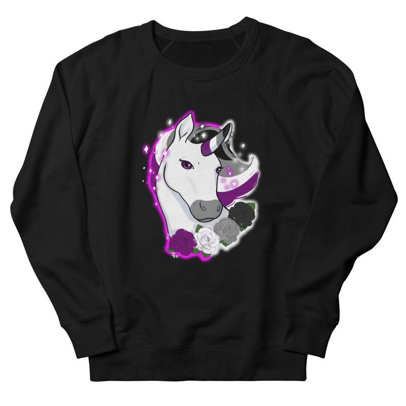 Asexual pride unicorn Women's French Terry Sweatshirt by AnimeGravy