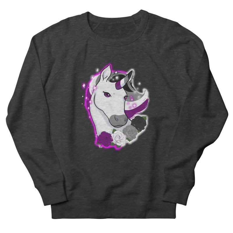 Asexual pride unicorn Men's French Terry Sweatshirt by Animegravy's Artist Shop