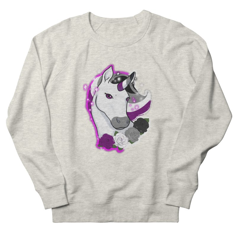 Asexual pride unicorn Men's French Terry Sweatshirt by AnimeGravy