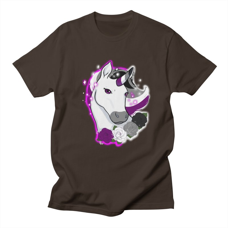 Asexual pride unicorn Men's Regular T-Shirt by AnimeGravy
