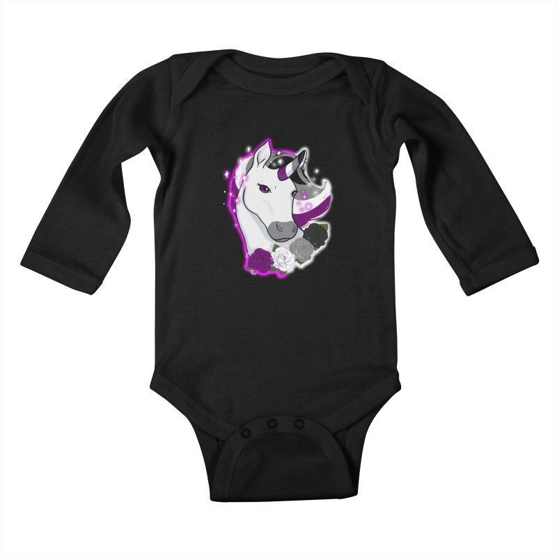 Asexual pride unicorn Kids Baby Longsleeve Bodysuit by Animegravy's Artist Shop