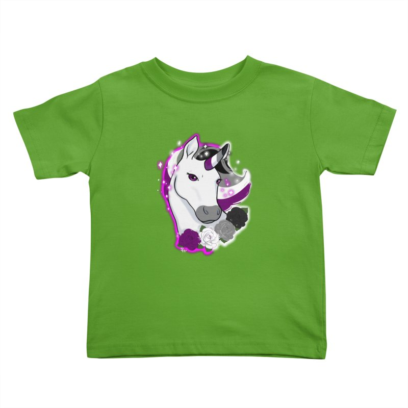Asexual pride unicorn Kids Toddler T-Shirt by AnimeGravy
