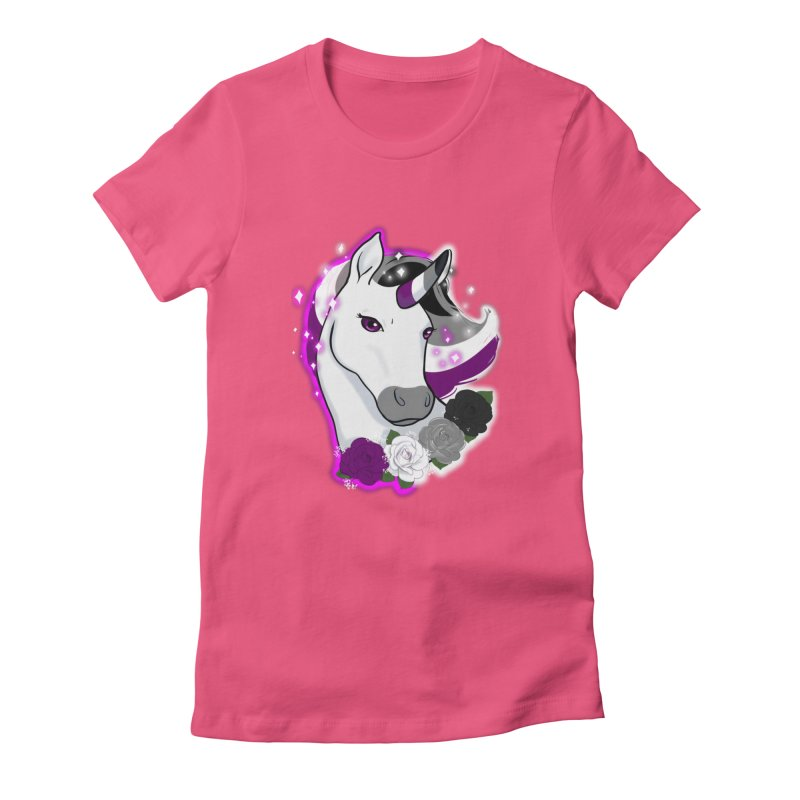 Asexual pride unicorn Women's T-Shirt by AnimeGravy