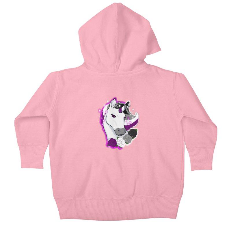 Asexual pride unicorn Kids Baby Zip-Up Hoody by AnimeGravy