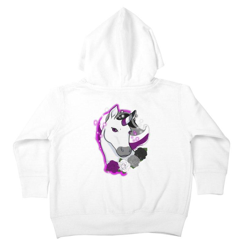 Asexual pride unicorn Kids Toddler Zip-Up Hoody by AnimeGravy