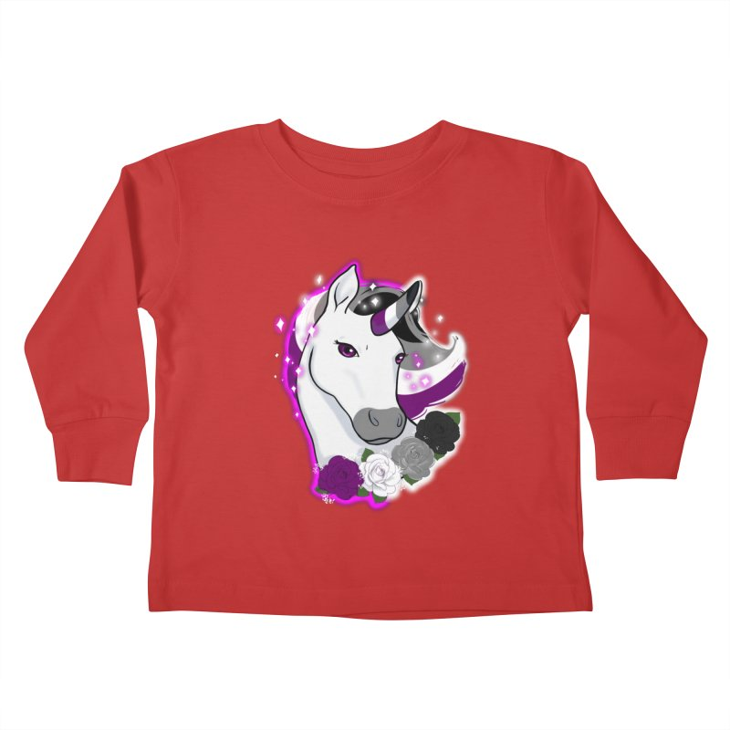 Asexual pride unicorn Kids Toddler Longsleeve T-Shirt by AnimeGravy
