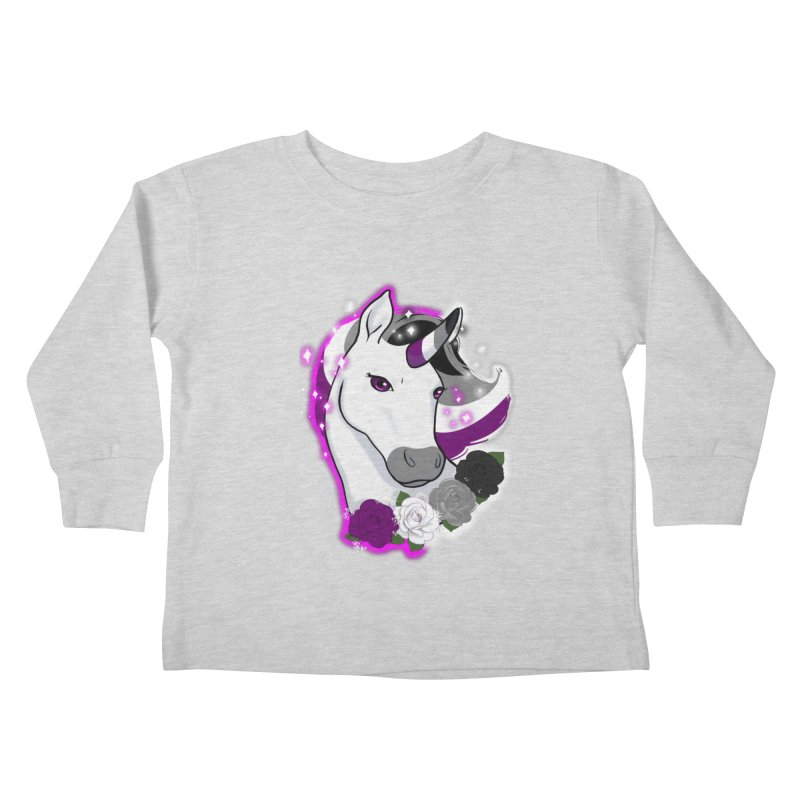 Asexual pride unicorn Kids Toddler Longsleeve T-Shirt by AnimeGravy