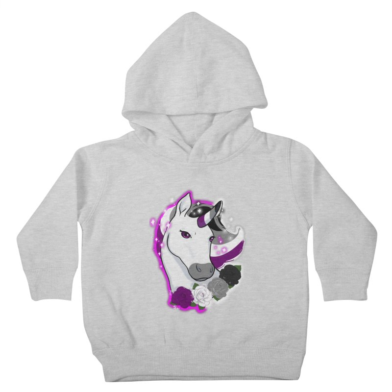 Asexual pride unicorn Kids Toddler Pullover Hoody by AnimeGravy