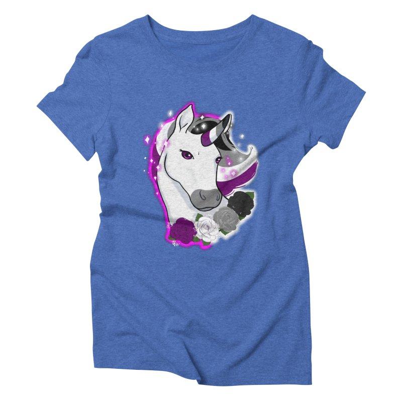 Asexual pride unicorn Women's Triblend T-Shirt by Animegravy's Artist Shop