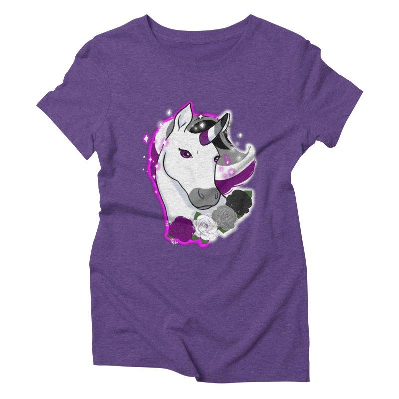 Asexual pride unicorn Women's Triblend T-Shirt by AnimeGravy