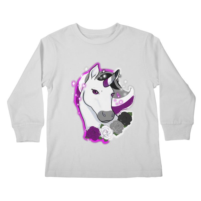 Asexual pride unicorn Kids Longsleeve T-Shirt by Animegravy's Artist Shop