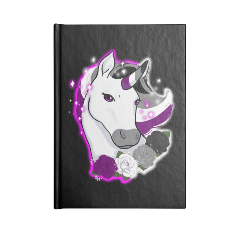 Asexual pride unicorn Accessories Lined Journal Notebook by AnimeGravy