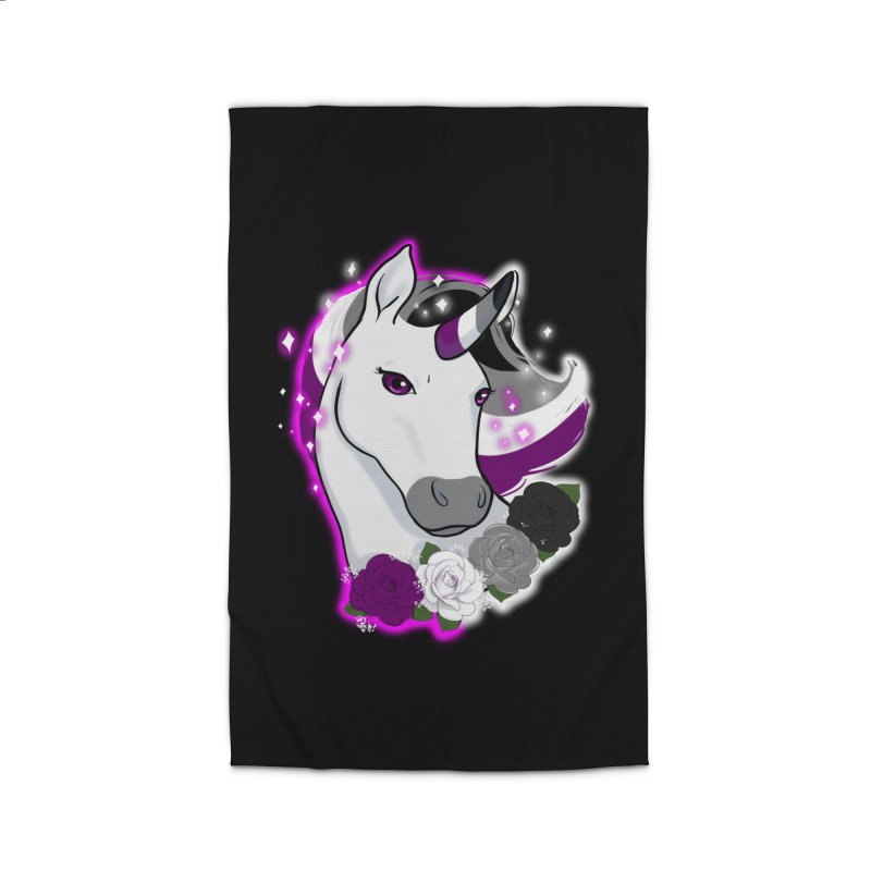 Asexual pride unicorn Home Rug by AnimeGravy
