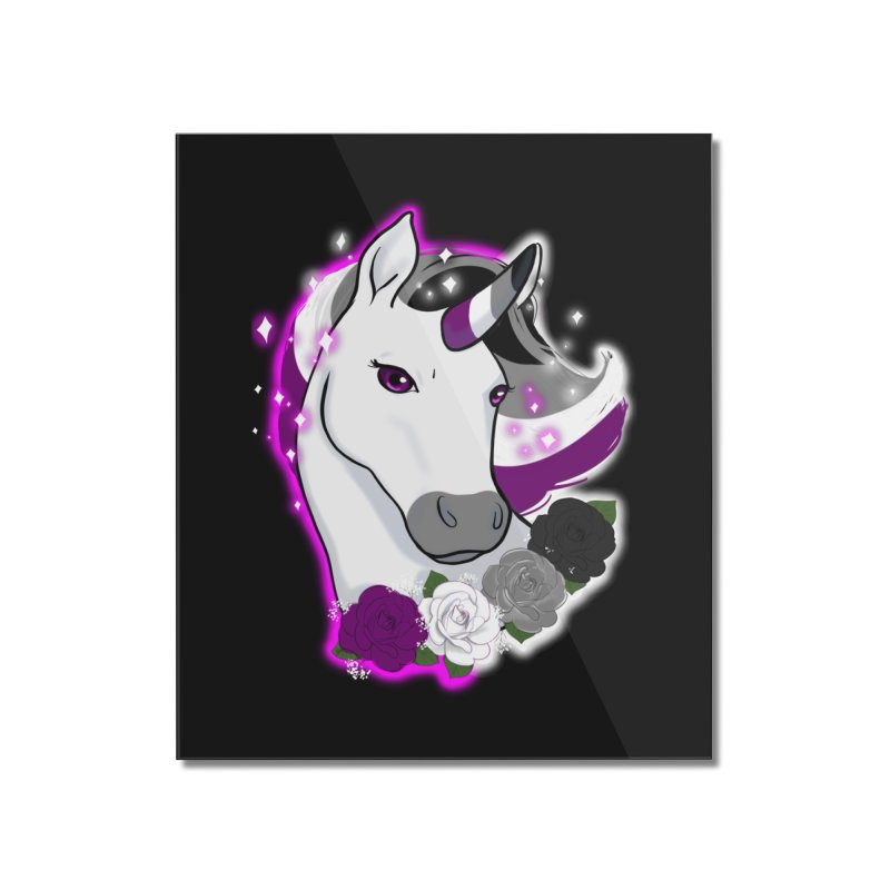 Asexual pride unicorn Home Mounted Acrylic Print by AnimeGravy