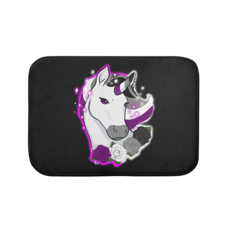Asexual pride unicorn Home Bath Mat by Animegravy's Artist Shop