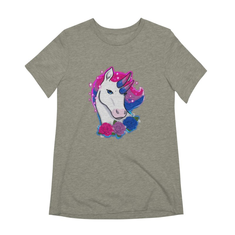 Bisexual Pride Unicorn Women's Extra Soft T-Shirt by AnimeGravy
