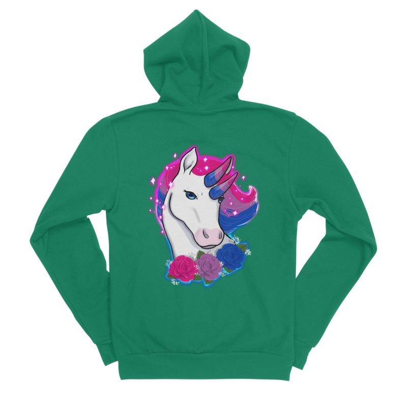 Bisexual Pride Unicorn Men's Sponge Fleece Zip-Up Hoody by Animegravy's Artist Shop