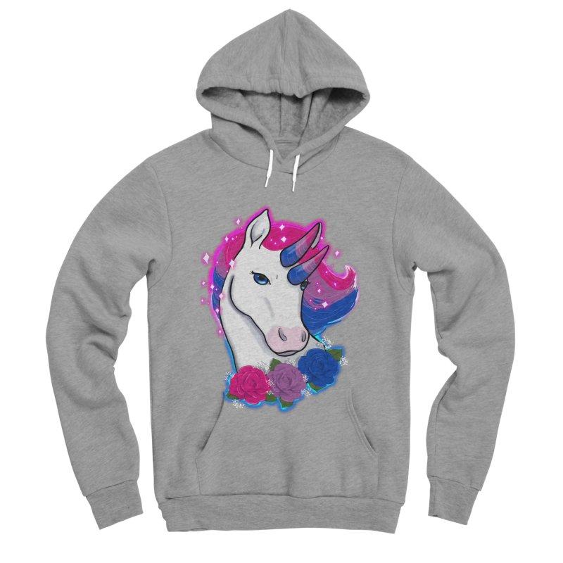 Bisexual Pride Unicorn Women's Sponge Fleece Pullover Hoody by Animegravy's Artist Shop