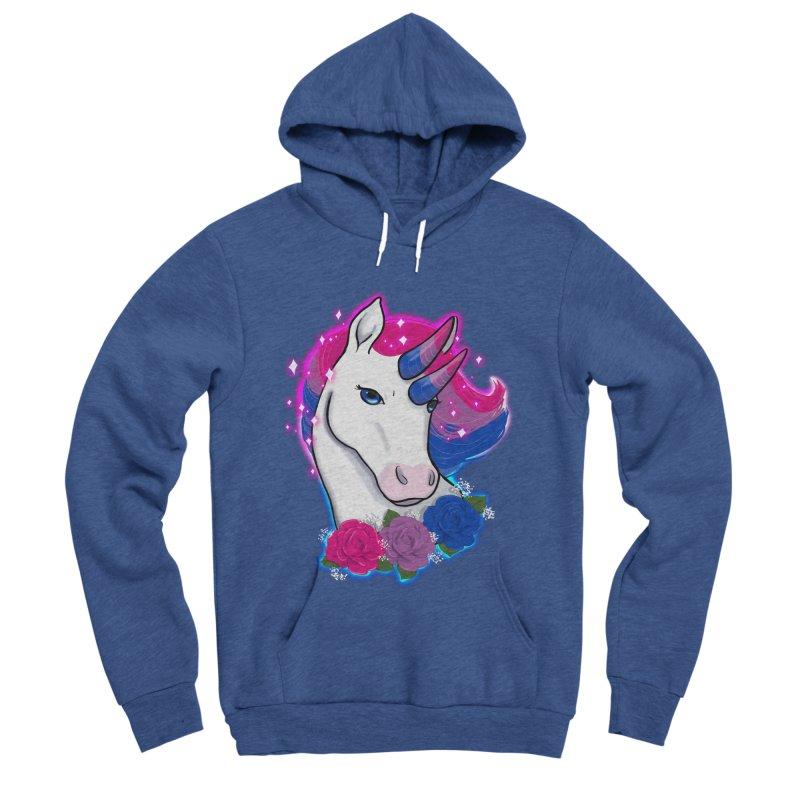 Bisexual Pride Unicorn Men's Sponge Fleece Pullover Hoody by Animegravy's Artist Shop