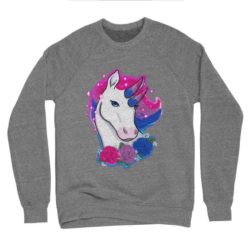 Bisexual Pride Unicorn Men's Sponge Fleece Sweatshirt by AnimeGravy