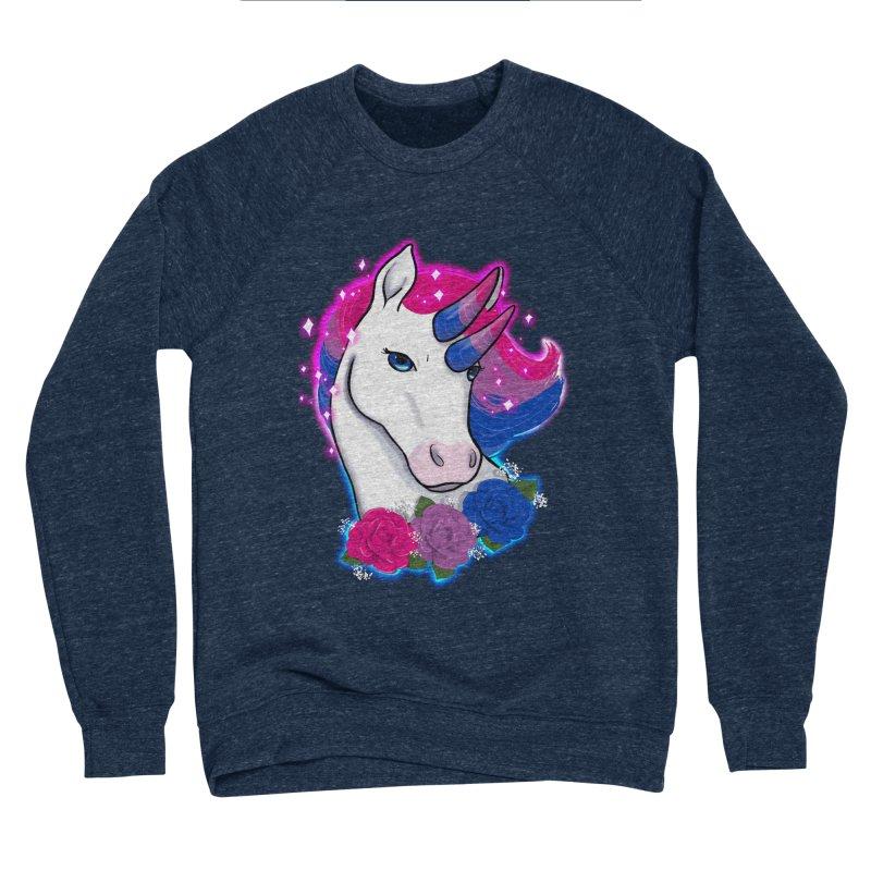 Bisexual Pride Unicorn Men's Sponge Fleece Sweatshirt by AnimeGravy