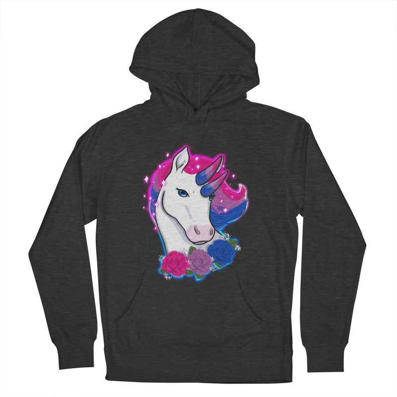 Bisexual Pride Unicorn Women's French Terry Pullover Hoody by AnimeGravy