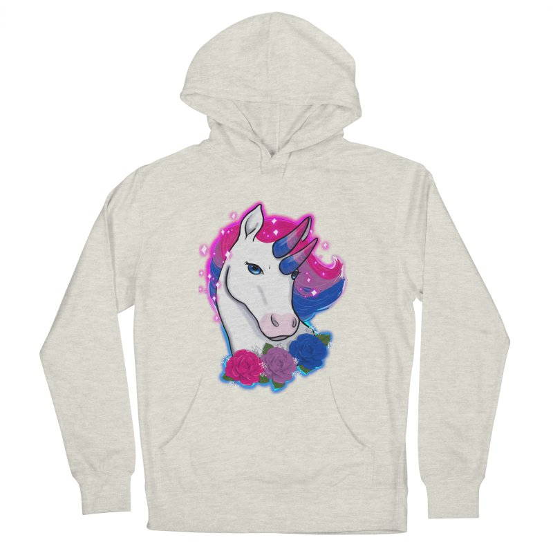 Bisexual Pride Unicorn Women's French Terry Pullover Hoody by Animegravy's Artist Shop
