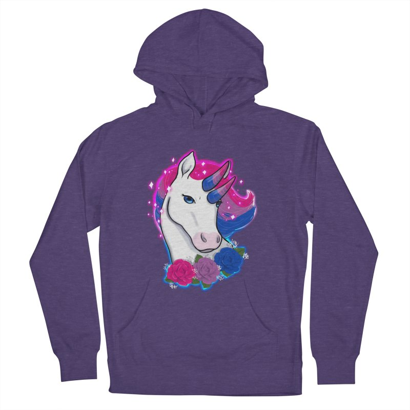 Bisexual Pride Unicorn Men's French Terry Pullover Hoody by AnimeGravy