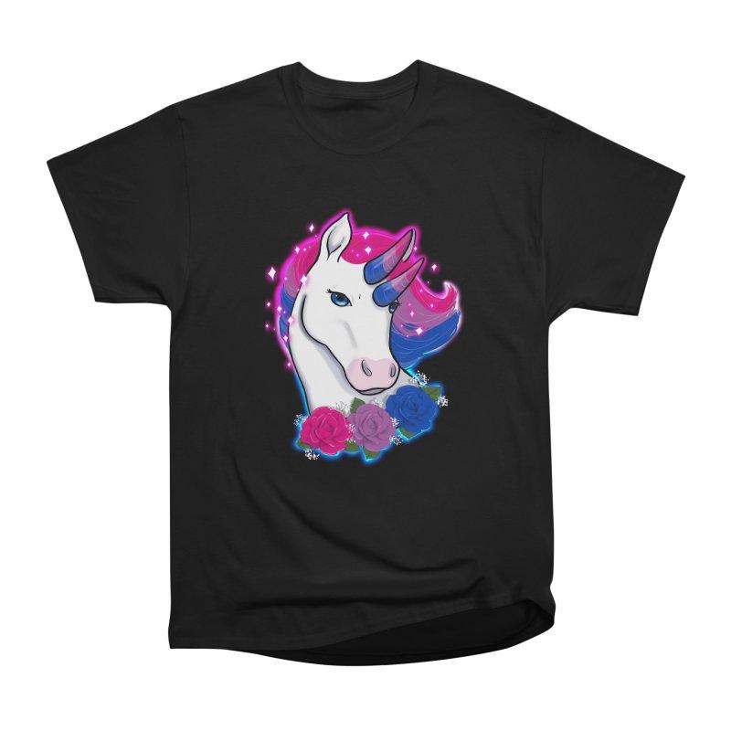Bisexual Pride Unicorn Women's Heavyweight Unisex T-Shirt by AnimeGravy