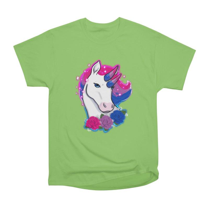 Bisexual Pride Unicorn Women's Heavyweight Unisex T-Shirt by Animegravy's Artist Shop