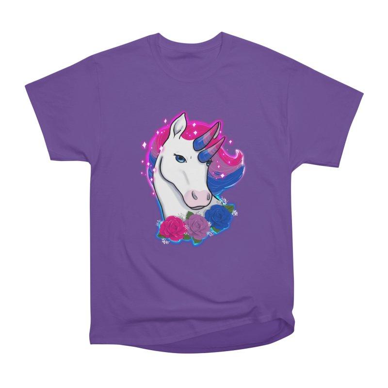 Bisexual Pride Unicorn Men's Heavyweight T-Shirt by AnimeGravy