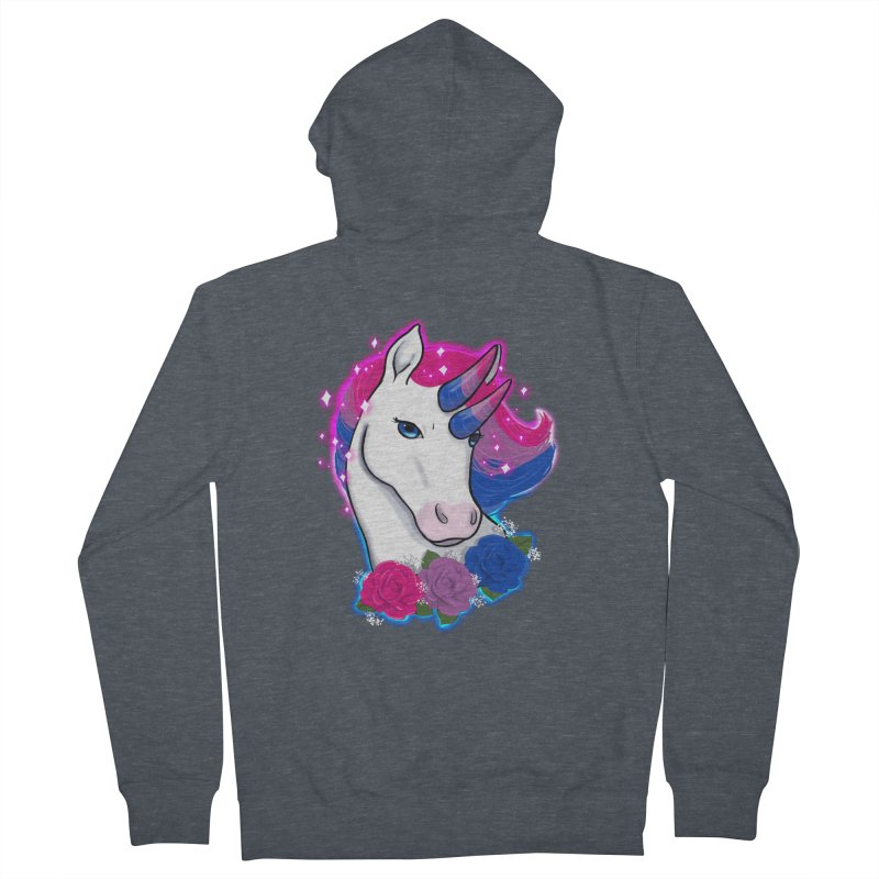 Bisexual Pride Unicorn Women's French Terry Zip-Up Hoody by Animegravy's Artist Shop