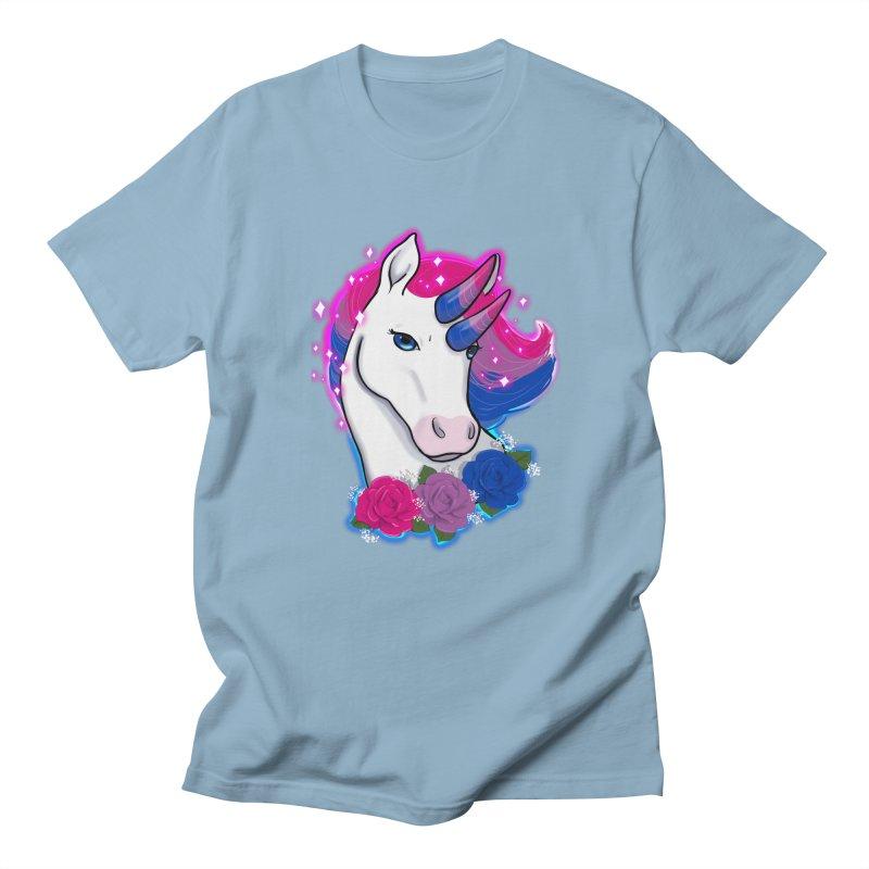 Bisexual Pride Unicorn Men's Regular T-Shirt by AnimeGravy
