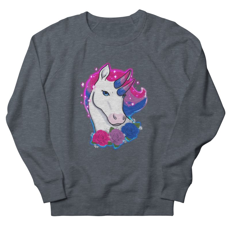 Bisexual Pride Unicorn Women's French Terry Sweatshirt by Animegravy's Artist Shop