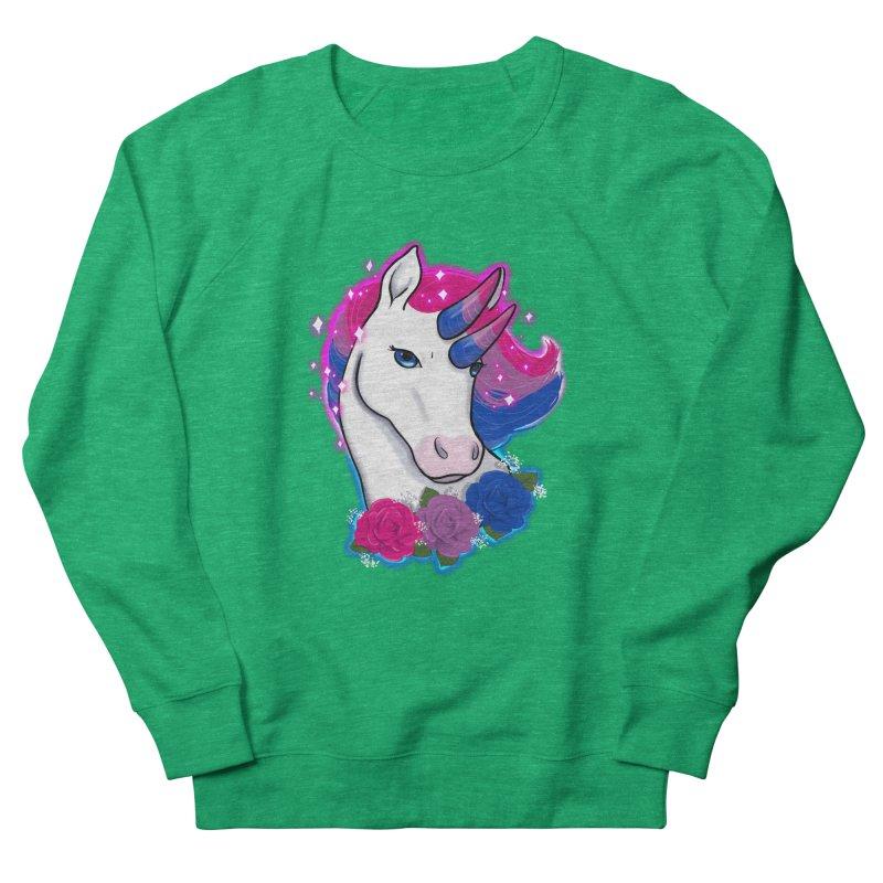Bisexual Pride Unicorn Men's French Terry Sweatshirt by Animegravy's Artist Shop