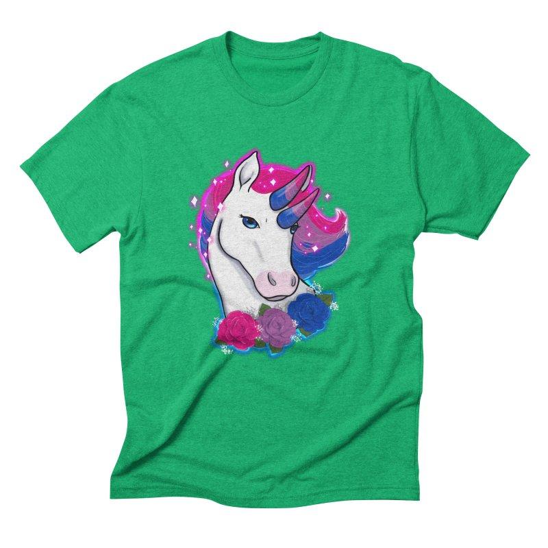 Bisexual Pride Unicorn Men's Triblend T-Shirt by AnimeGravy