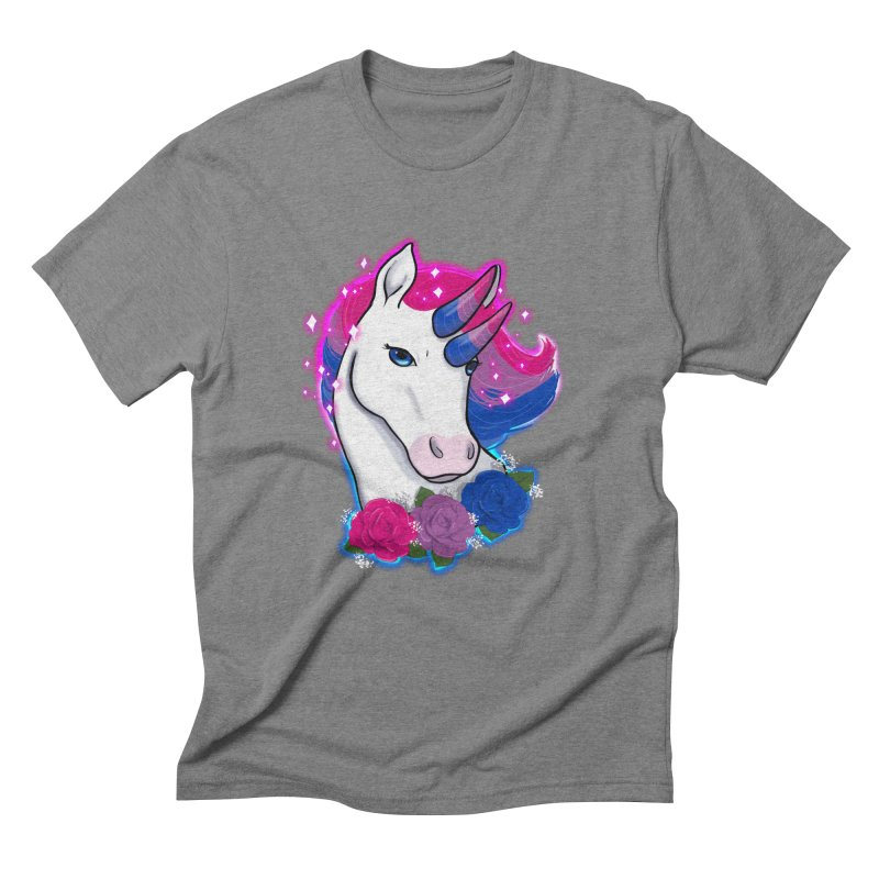Bisexual Pride Unicorn Men's Triblend T-Shirt by AnimeGravy