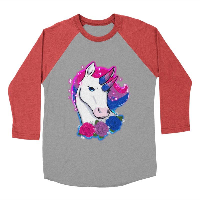 Bisexual Pride Unicorn Women's Baseball Triblend Longsleeve T-Shirt by AnimeGravy