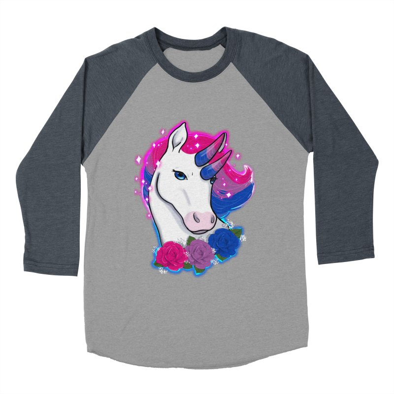 Bisexual Pride Unicorn Women's Baseball Triblend Longsleeve T-Shirt by Animegravy's Artist Shop