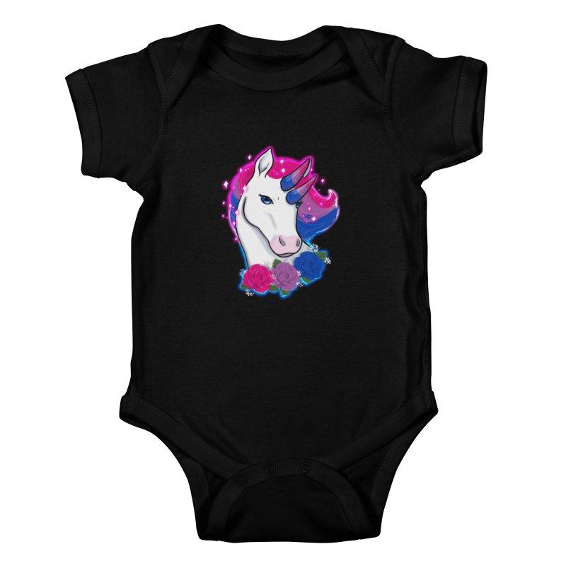 Bisexual Pride Unicorn Kids Baby Bodysuit by AnimeGravy