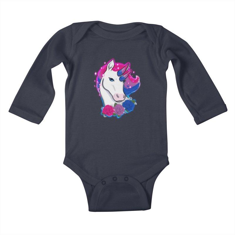 Bisexual Pride Unicorn Kids Baby Longsleeve Bodysuit by AnimeGravy