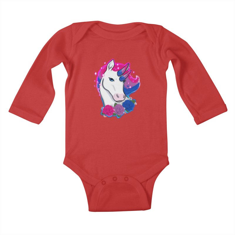 Bisexual Pride Unicorn Kids Baby Longsleeve Bodysuit by AnimeGravy
