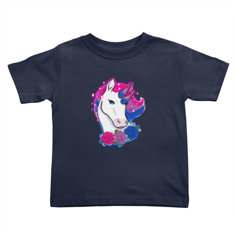 Bisexual Pride Unicorn Kids Toddler T-Shirt by AnimeGravy