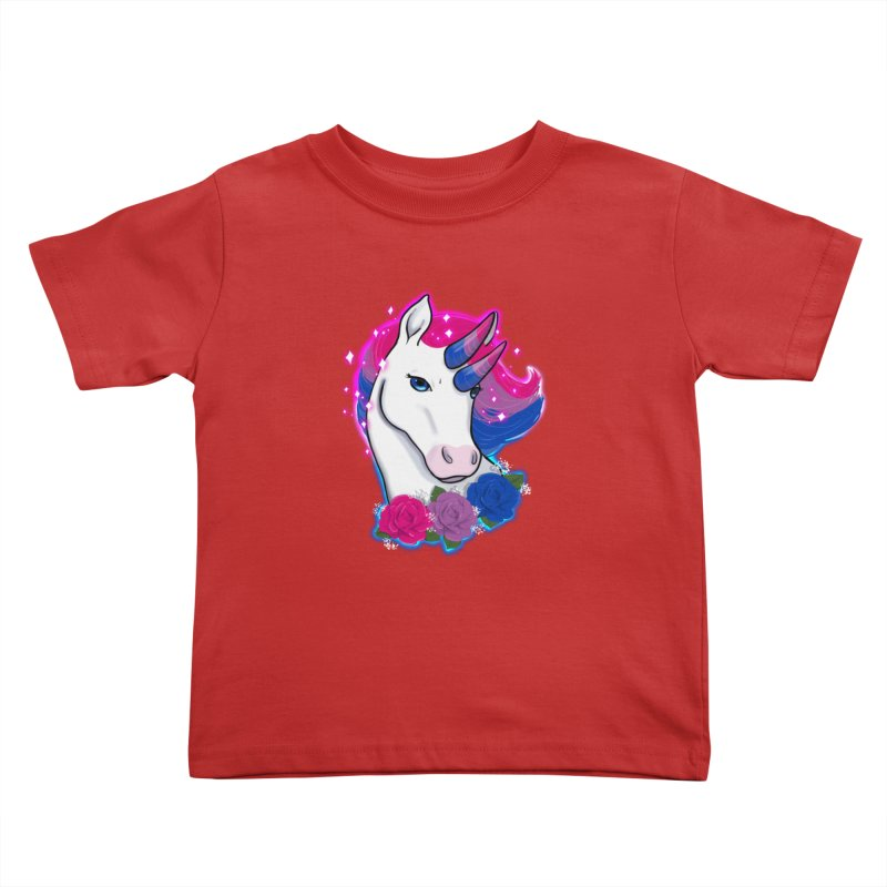 Bisexual Pride Unicorn Kids Toddler T-Shirt by AnimeGravy