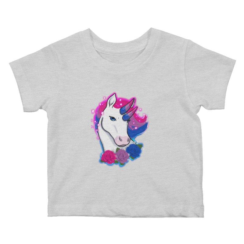 Bisexual Pride Unicorn Kids Baby T-Shirt by AnimeGravy