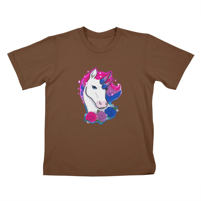 Bisexual Pride Unicorn Kids T-Shirt by AnimeGravy
