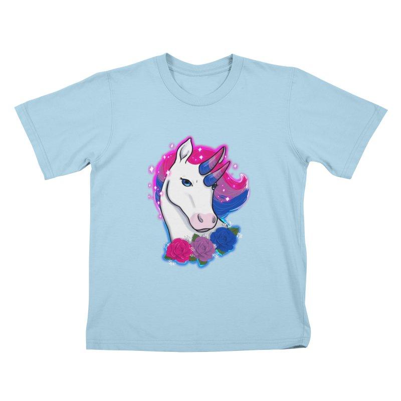 Bisexual Pride Unicorn Kids T-Shirt by Animegravy's Artist Shop