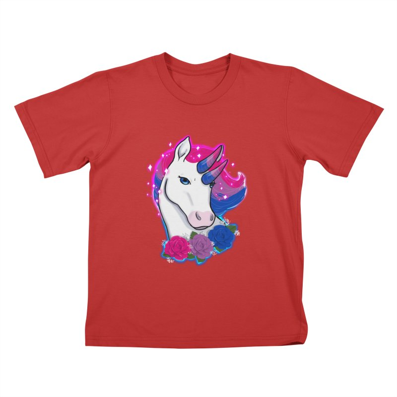 Bisexual Pride Unicorn Kids T-Shirt by AnimeGravy